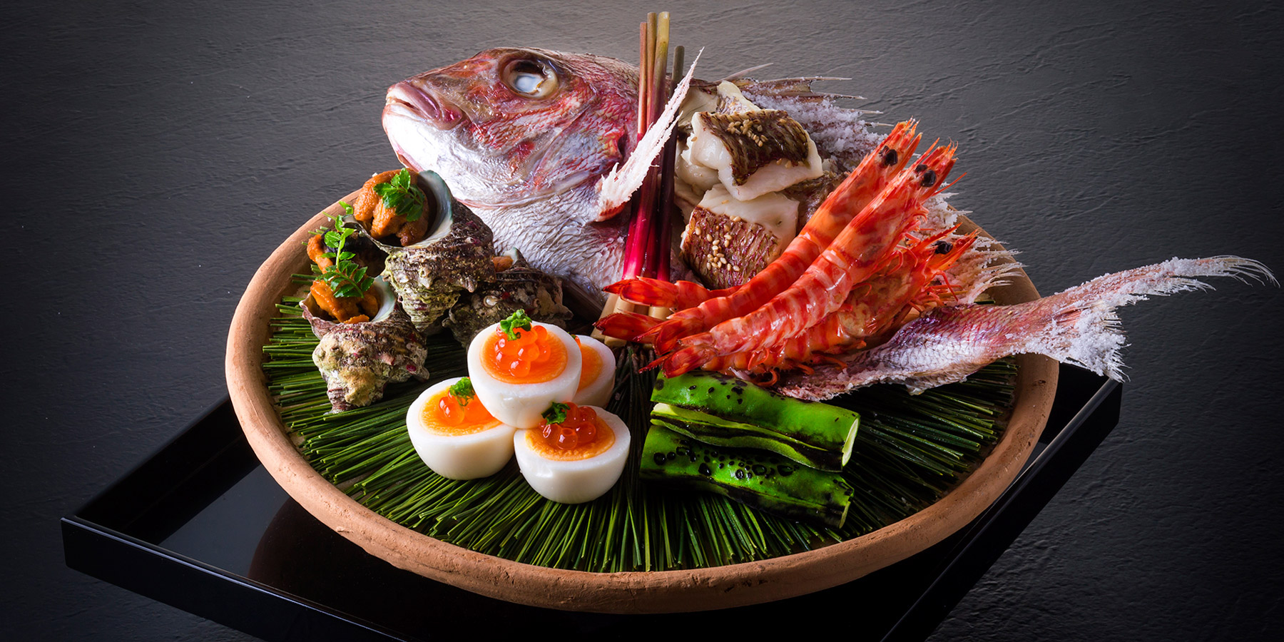 "SPECIALTIES ー Our new menu, ""Horakuyaki"", specialty of Ehime prefecture"
